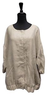 Eileen Fisher Sleeve Snap Beige Jacket