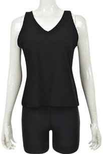 Eileen Fisher Womens Textured Sleeveless Shirt Casual Top Black