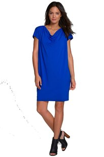 Eileen Fisher short dress Blue Comfy Easy on Tradesy