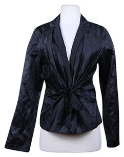 Eileen Fisher Eileen Fisher Womens Black Blazer Cotton Career Jacket