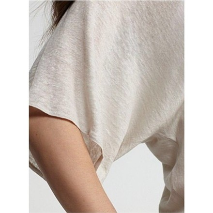 Eileen Fisher Scoop Neck Tunic T Shirt Natural - 59% Off Retail durable service