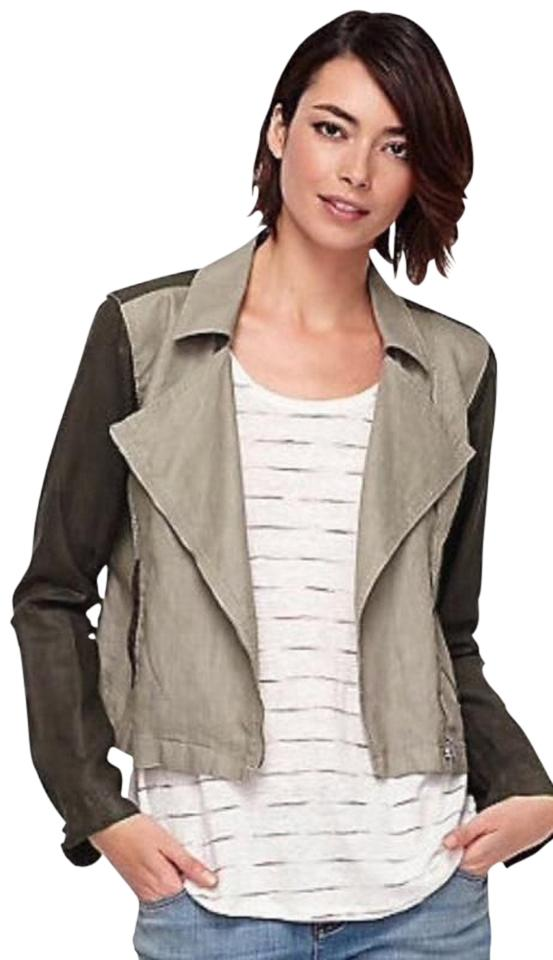 Eileen Fisher Organic Linen Stone and Brown Jacket ...