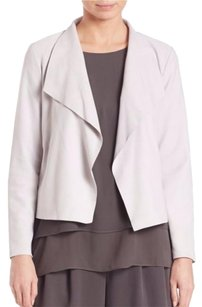 Eileen Fisher The Fisher Project Taupe Leather Jacket