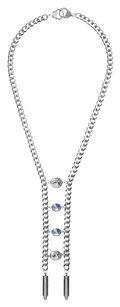 eklexic CRYSTAL LADDER NECKLACE (Silver)
