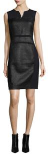 Elie Tahari Anya Leather Dress