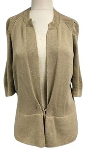 Elie Tahari Cotton Blend 34 Sleeve Hook Fasten Cardigan Sma11715 Sweater