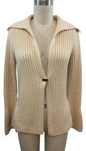 Elie Tahari Wool One Snap Cardigan Sweater