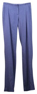 Elie Tahari Womens White Casual Linen Trousers Pants