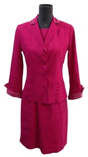 Elie Tahari Elie Tahari Fuschia Sheath Dress and Jacket