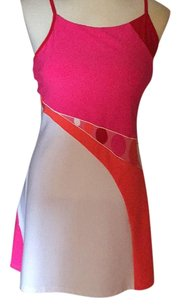 Eliza Audley short dress Pink, red, white, coral on Tradesy