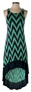 Maxi Dress by Ella Moss Hi Lo Chevron Herringbone