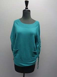 Ella Moss Drawstring Sleeve Two Pocket Womens Sm6958 Top Green