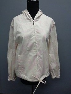 Ellen Tracy Company Floral Zip Front Hooded Sma665 Lavender, White Jacket