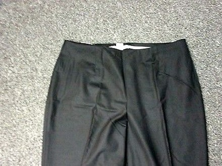 70 Off Ellen Tracy Black Wool Flat Front Side Zip Solid Dress Pant Slacks Sma6738