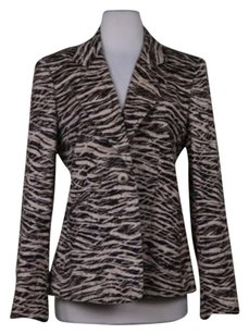 Ellen Tracy Ellen Tracy Womens Brown Tan Blazer Cotton Jacket
