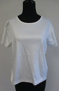 Ellen Tracy Company Cotton Short Sleeved Scoopneck R795 T Shirt White