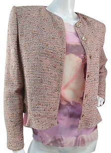 Emanuel Ungaro Emanuel Ungaro Silk Printed Cami And Pink Tweed Matching Jacket