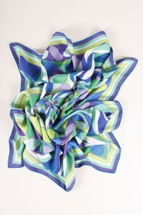 Emilio Pucci Emilio Pucci Multicolor Abstract Print Square Silk Scarf