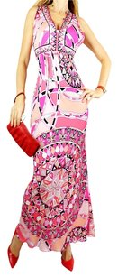 Pink Print Maxi Dress by Emilio Pucci Printed Designer