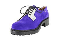 Emporio Armani Womens Oxford purple Flats