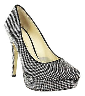 Enzo Angiolini Used Womens silver Platforms