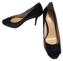 Enzo Angiolini Black Patent Leather Pumps