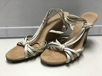 Enzo Angiolini Leather White Sandals