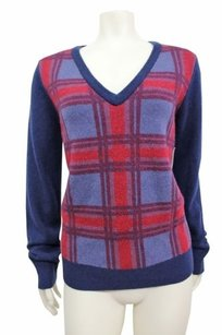 Equipment Femme Cecile Plaid Wool Wool Yak Sweater