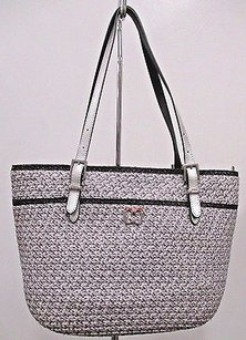Eric Javits Jav Squishee Tote in Silver and black