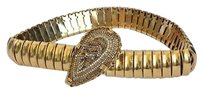 Erickson Beamon Erickson Beamon Gold Chain Link Statement Belt Jewelry Stone