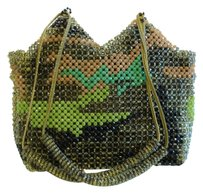 Erickson Beamon Swarovski Camouflage Evening Military Beaded Jewelry Shoulder Bag