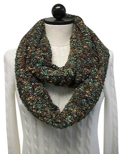 Erin London Erin London Boucle Infinity Scarf Black Green Brown Knit August Rush Iii 82730