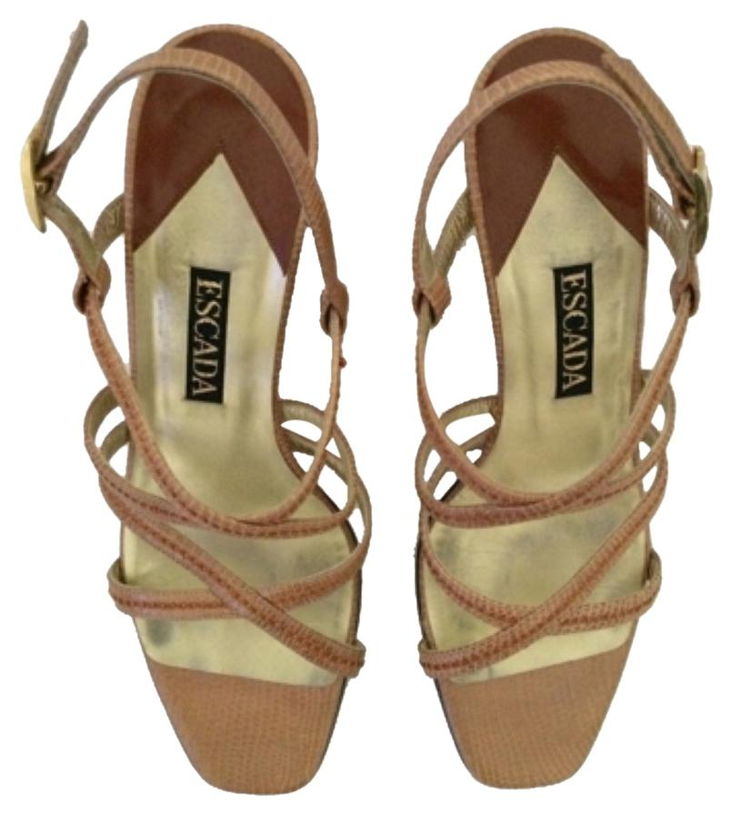 limited edition buy for sale Escada Printed Wedge Sandals sale low cost cheap sale under $60 mRuBX