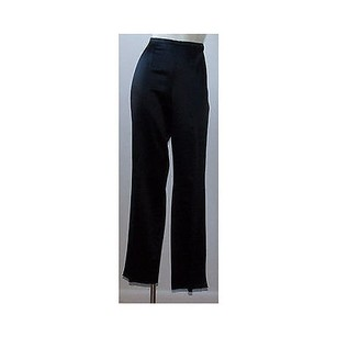 Escada Wool Silk Satin Formal Flat Front Trouser Hs1796 Pants