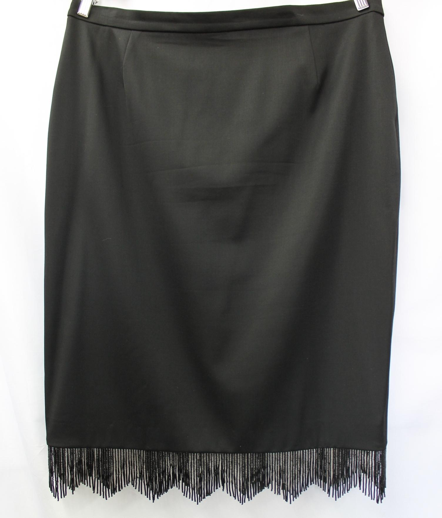 Escada Beaded Fringes Evening Cocktail 3-pc. Pant Skirt 44 - 68 ...