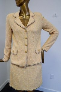 Escada Escada Multi Tweed Wool Blend 2pc Skirt Suit Italy Germany