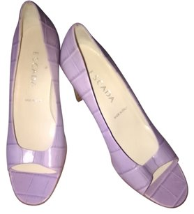 Escada Slip Ins High Heel Lavender Sandals