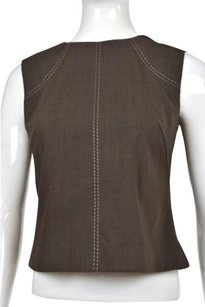 Escada Womens Textured Top Brown