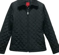 Esprit Quilted Light Weight Coat Black Jacket