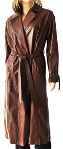 Etienne Aigner Vintage Leather Trench Trench Coat