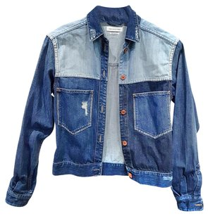 toile Isabel Marant Washed Distressed Cropped Womens Jean Jacket