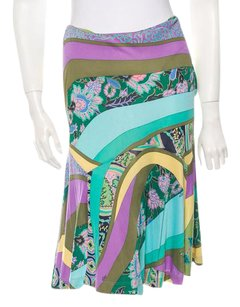 Etro Abstract Floral Skirt LAVENDER