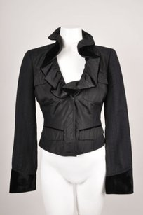 Etro Embroidered Fitted Black Jacket