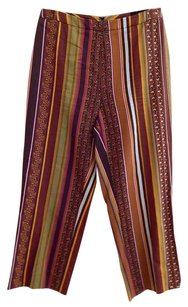 Etro Italy Striped Floral Pants