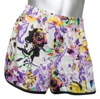 Etro Womens Casual Classic Printed Silk Elastic Waist Shorts Multi-Color