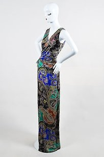 Multi-Color Maxi Dress by Etro Multicolor Paisley Print