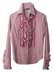 Etro Milan Button Down Shirt Red/White floral