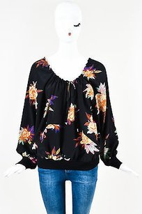 Etro Black Multicolor Silk Top Multi-Color