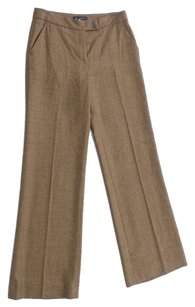 Etro Wool Wide Leg Italian Trouser Pants Brown