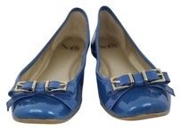 Eürosoft by Söfft Sofft Womens 6w Leather Career Loafers Slip On Blue Flats